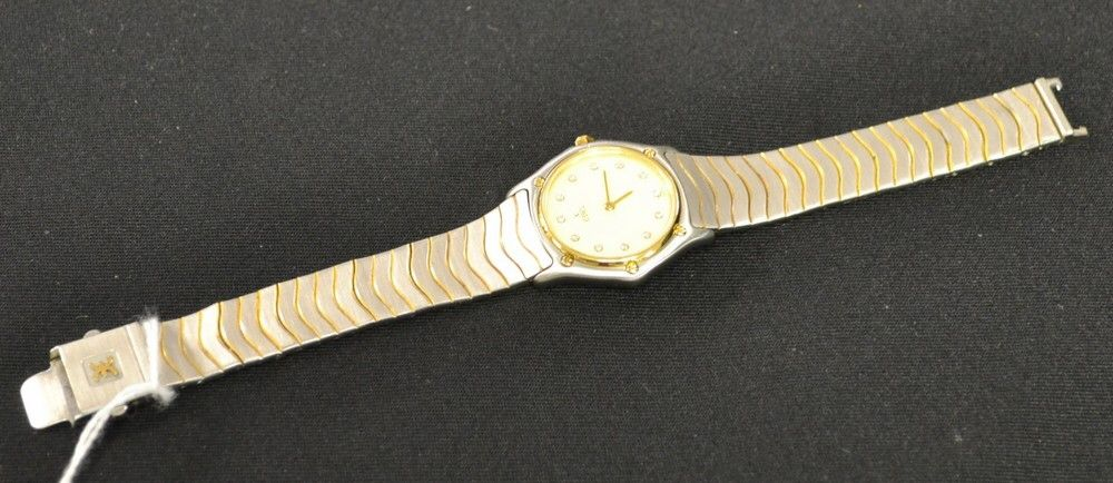 2dd6e935f A lady's stainless steel diamond accented #Ebel wristwatch In today's  #auction @bamfordsauctions #
