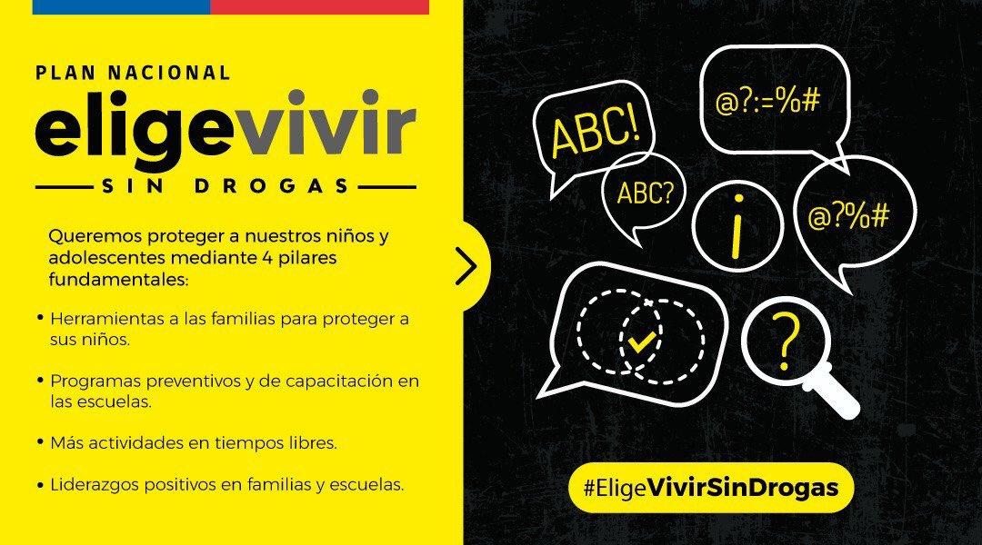 #EligeVivirSinDroga ¿Quieres conocer más del Plan Nacional de Prevención de Consumo de Drogas en Niñas, Niños y Adolescentes #EligevivirSinDrogas? Visita 👉🏻