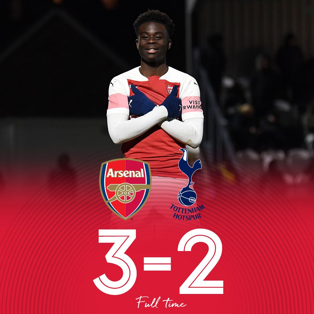 🔥 WHAT A COMEBACK 🔥  From 2-0 down to 3-2 up, #AFCU18 have maintained their place at the top of the U-18 Premier League table 👏