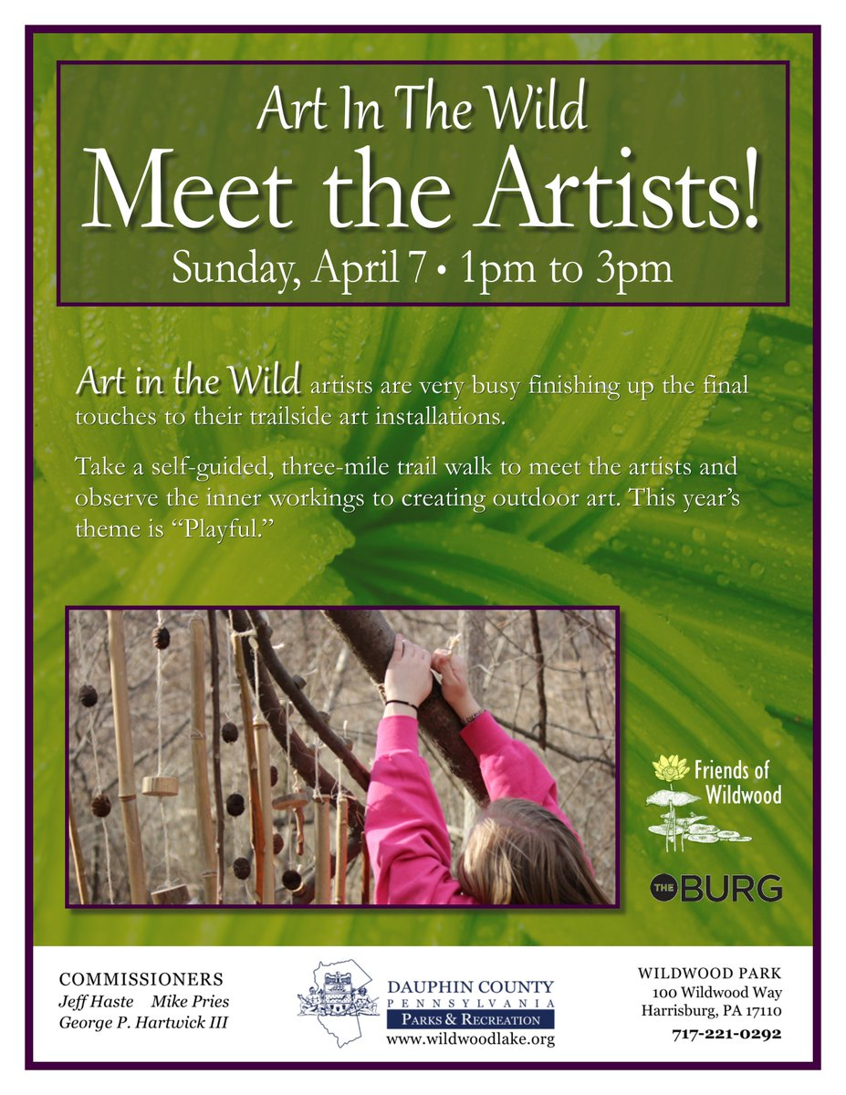 Art in the Wild at Wildwood Park is back! Check out the trailside art installations and meet the artists on April 7.