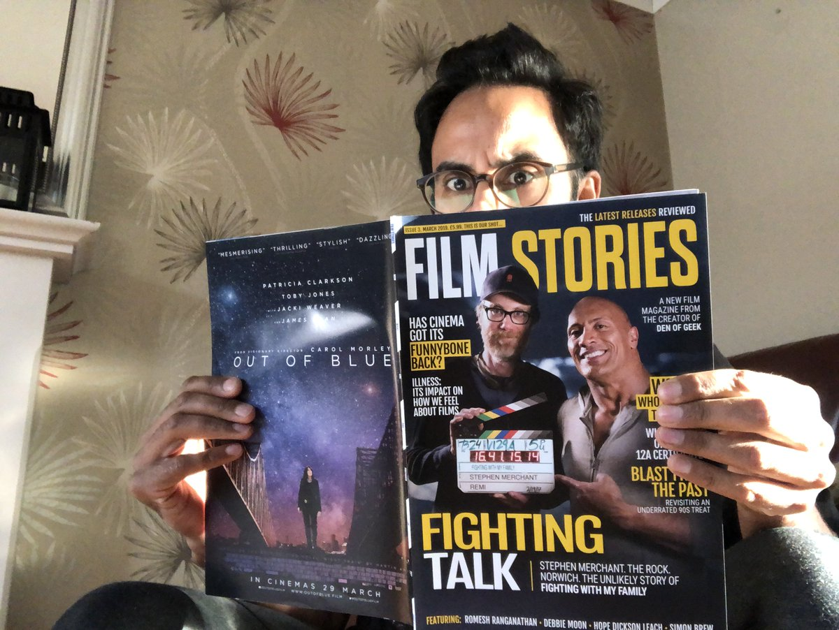 Our film @cosmos_movie gets its first feature in a magazine @filmstoriespod   An amazing 2 page read about the journey we've had and @TheRock  with @StephenMerchant  on the front cover to boost.
