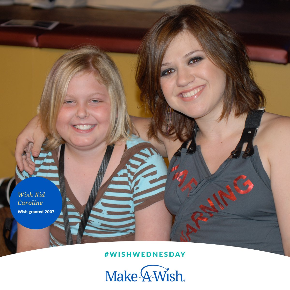 Join us this #WishWednesday in giving kids like Caroline, who I met thru @makeawish in '07, the strength to keep going–to fight harder against their illness. Because where there's a wish, there's a way. ⭐Wishes need you. Donate or RT to show your support!