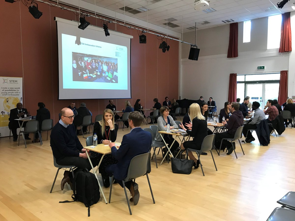 We really enjoyed hosting our first 'Careers in your Curriculum' event last week at @Rodillian_Ac! 12 #STEM Ambassadors joined us to chat with #teachers from 12 different schools about their #careers & how their skills link with curriculum subjects! #Engineering #ICT #Business