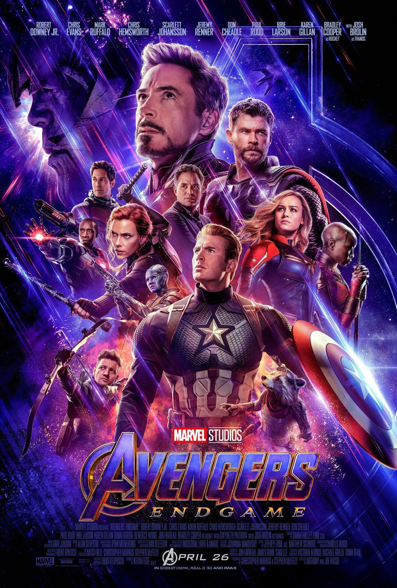 Avengers: Endgame poster on Paul Gale Network