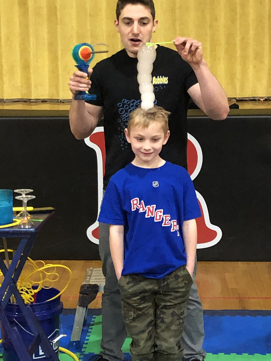 Thank you Mr. Bubbles and Applegate PTO for an amazing assembly all about bubbles!