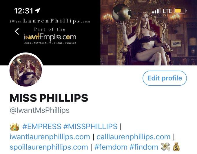 Do you follow my #femdom account? @IwantMsPhillips  You should!   #laurenphillips #missphillips https://t