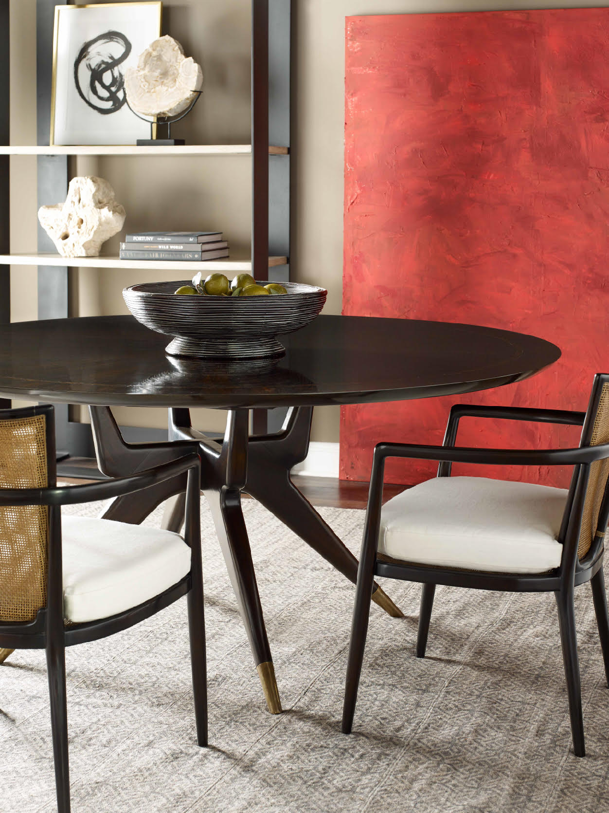 Alfonso Marina On Twitter A Touch Of Modern Art Turns The Space Into An Inviting Contemporary Dining Setting Featuring Isabel Marina Art The Hoven Dining Table And Our Dreaux Chair Hovendiningtable Dreauxchair