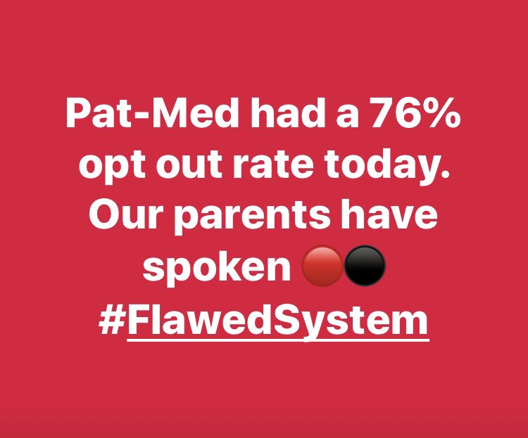 My school community (Patchogue-Medford School District)....the parents have spoken about the flawed 3-8 testing system in NY. @DianeRavitch @SirKenRobinson @NYSAPE @pasi_sahlberg