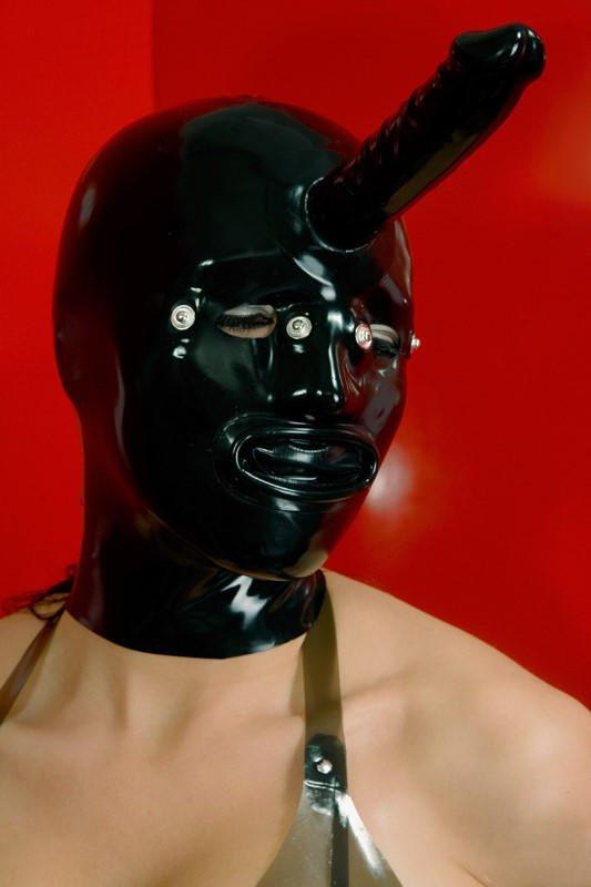 Mister B Fetch Rubber Dog Head Hood Fetch BDSM Pup Play Puppy Play BDSM