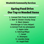 Image for the Tweet beginning: Our Spring Food Drive is