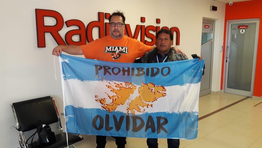 #HéroeDeMalvinas Una gran foto con Jorge Palacios.
