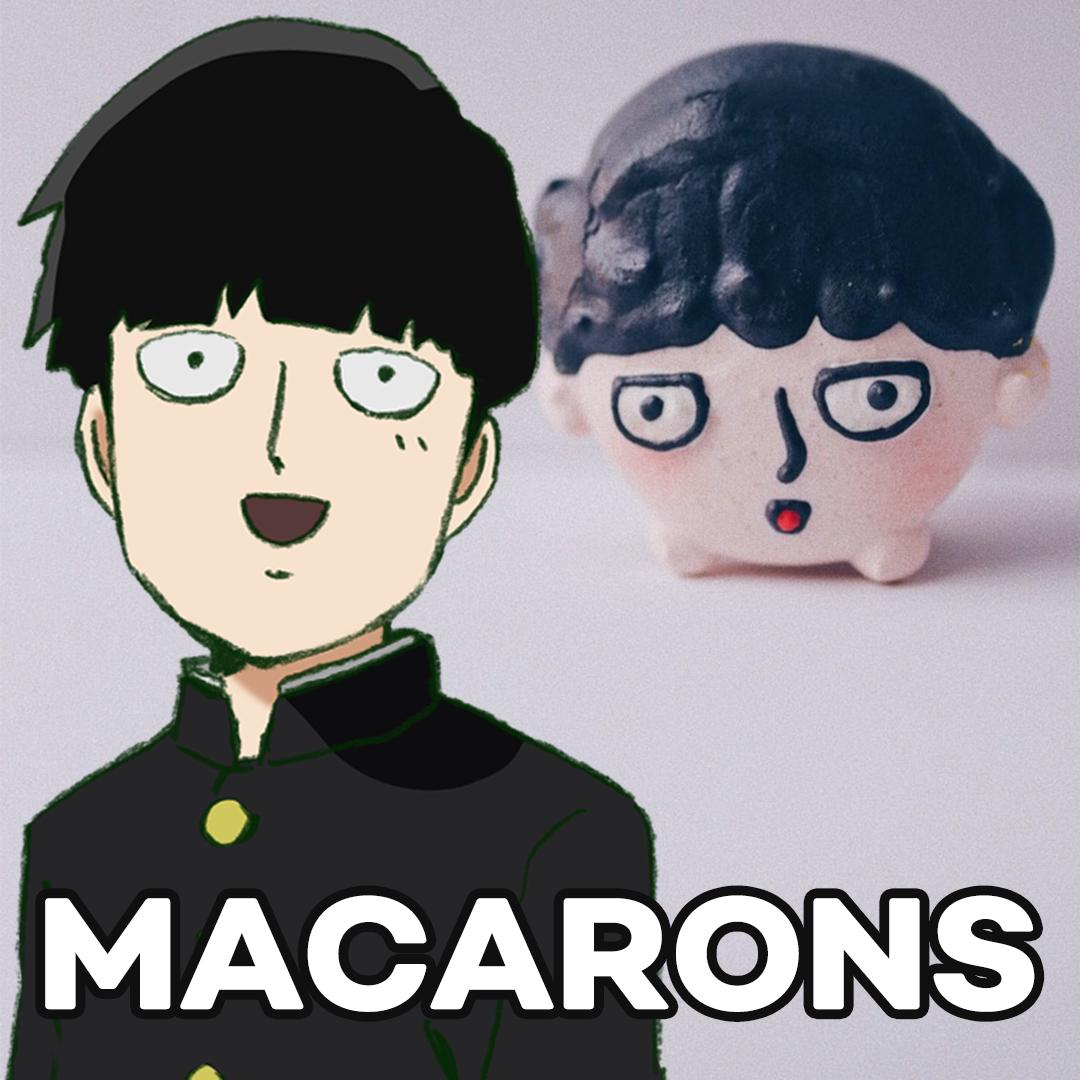 Mob Psycho 100 and macarons from @hbmacarons? A match made in heaven!!