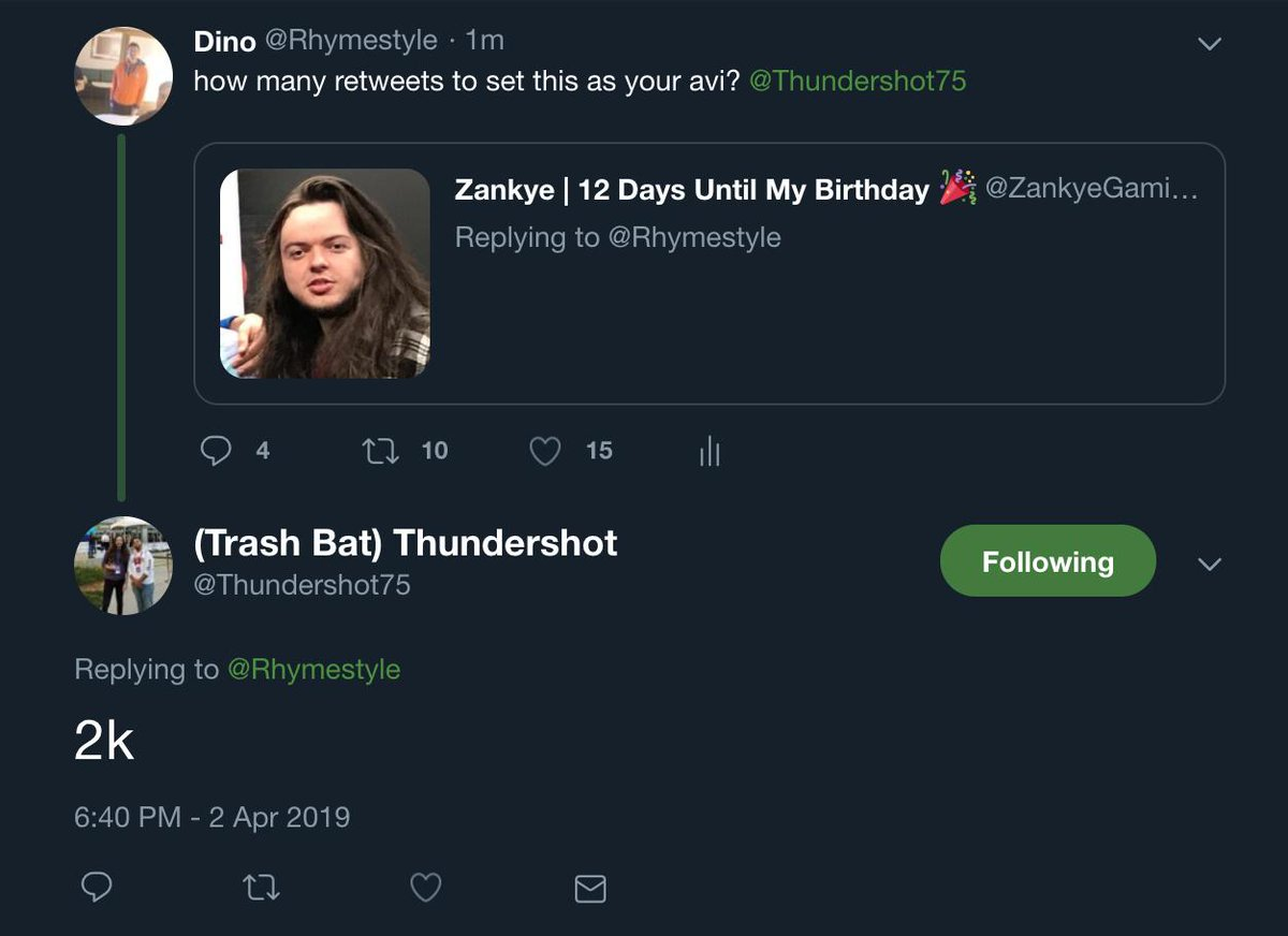 Alright. 2K retweets and we force @Thundershot75 to set this pic as his Avi. Make it happen y'all!