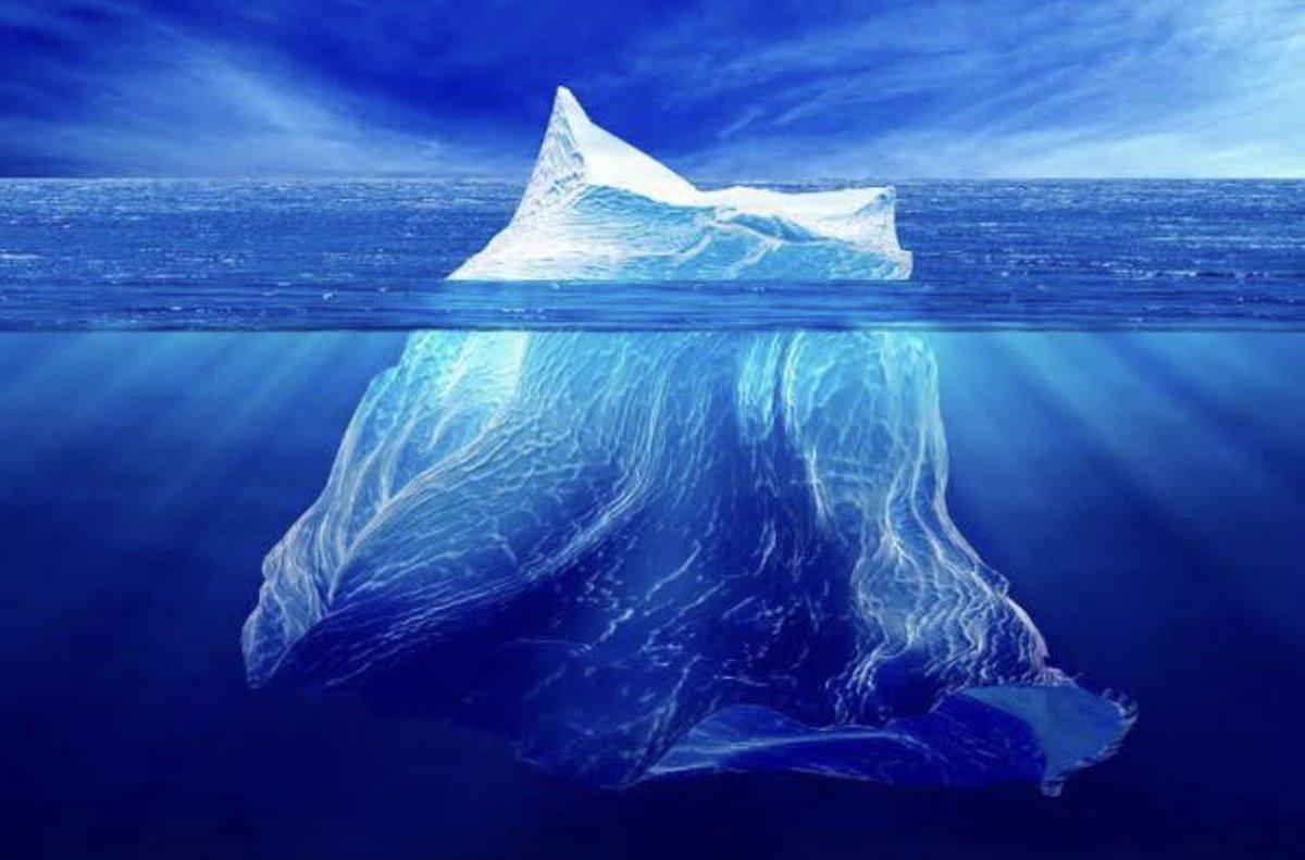 Фото подводной части айсберга