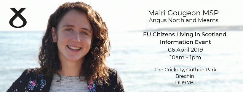 This Saturday 6th April I will be holding an advice surgery for EU citizens, together with @CitAdviceScot and @CitzRights, at The Crickety in Brechin from 10am-1pm. Please retweet and help spread the word!
