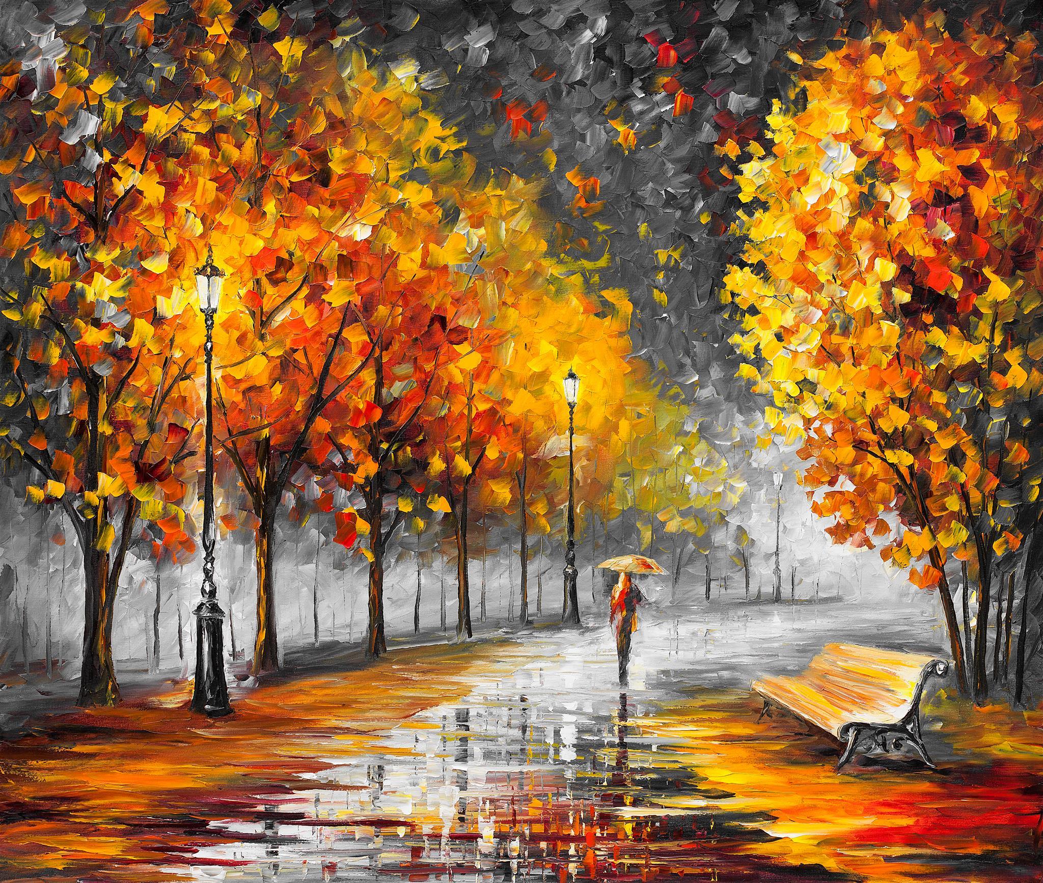осенний пейзаж художник афремов картины фото для