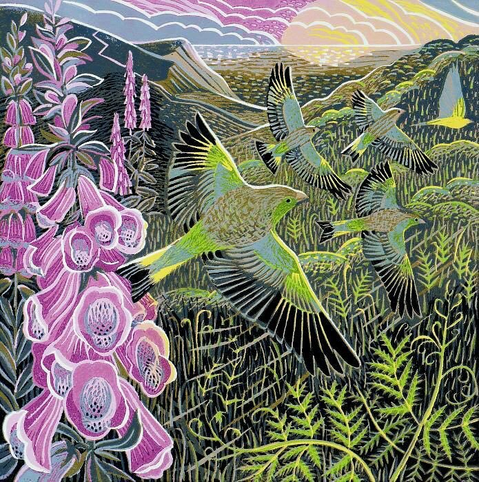 RT @womensart1: 'Foxgloves and Finches' by contemporary UK printmaker Annie Soudain #womensart https://t.co/Hs5c8Vi5ee