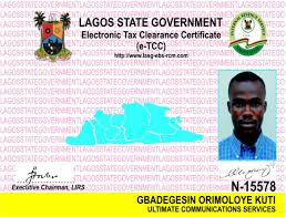 Lagos state government electronic tax clearance certificate