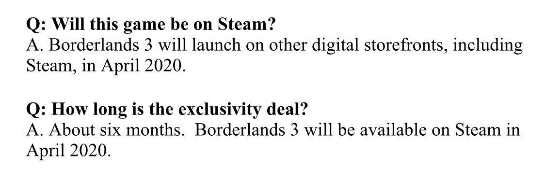 Gamers are upset at Borderlands 3 being an Epic Store exclusive