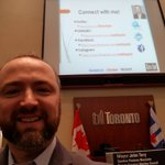 Image for the Tweet beginning: Presenting at Toronto City Hall