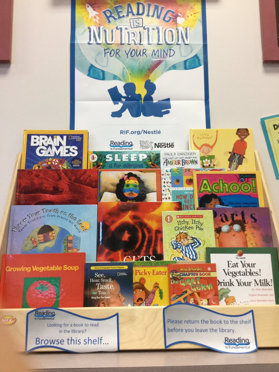 <a target='_blank' href='http://twitter.com/APSLibrarians'>@APSLibrarians</a> <a target='_blank' href='http://twitter.com/RIFWEB'>@RIFWEB</a> Patrick Henry Library is excited to share RIF health &amp; nutrition books with students! <a target='_blank' href='http://search.twitter.com/search?q=readingisnutritionforyourmind'><a target='_blank' href='https://twitter.com/hashtag/readingisnutritionforyourmind?src=hash'>#readingisnutritionforyourmind</a></a> <a target='_blank' href='https://t.co/PY0Wuxmsje'>https://t.co/PY0Wuxmsje</a>