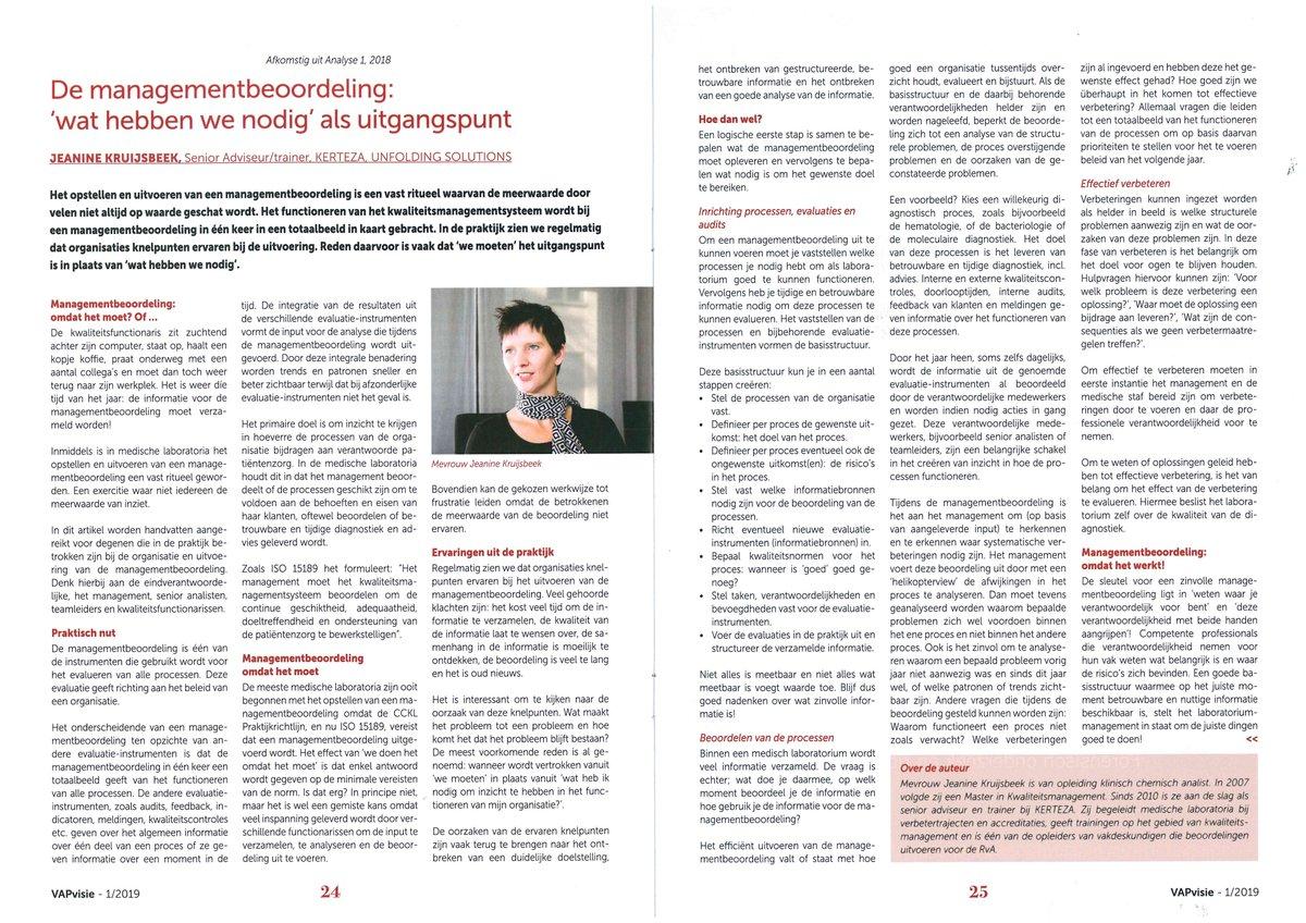 58c979ce6ad ... volgend artikel voor uit #VAPvisie: 'De #managementbeoordeling: 'wat  hebben we nodig' als uitgangspunt' door Senior Adviseur/trainer Jeanine  Kruijsbeek.