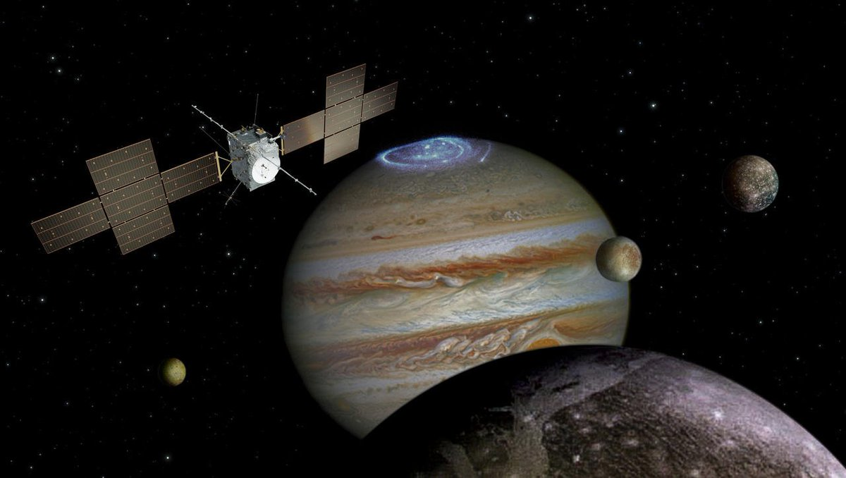 ✅ Good news from #Juice, our #Jupiter Icy Moons Explorer: after passing its critical design review, the mission has been given the green light for full development, marking the start of the qualification & production phase #HowWeMakeASpaceMission Details: sci.esa.int/juice/61286-re…