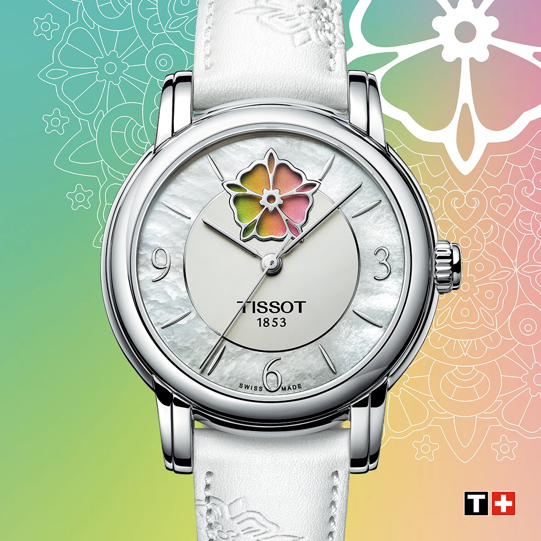 Life is art. Live yours in color. Which one opens your heart: green, yellow or rose? Discover the #Tissot Lady Heart Flower : https://bit.ly/2Ugh8qn
