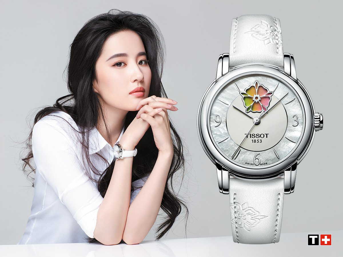The #Tissot Lady Heart Flower for ladies who are looking to exude graceful and feminine charm with a touch of colour in the flower that changes every day.