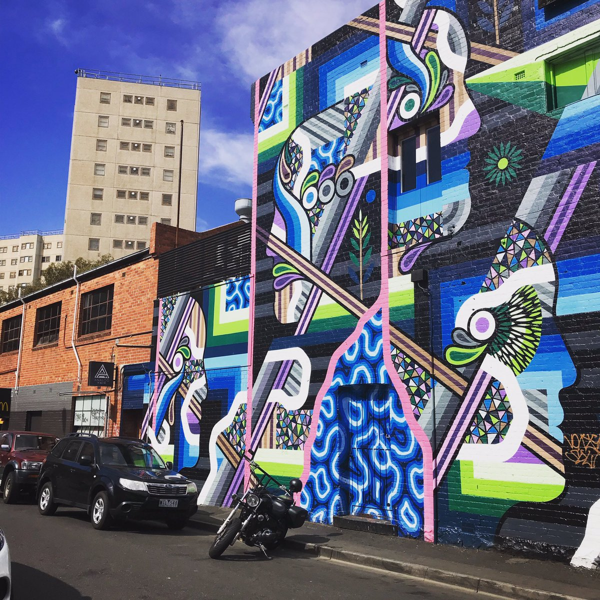 I love the #streetart in #Melbourne it's like the whole city is a gallery!