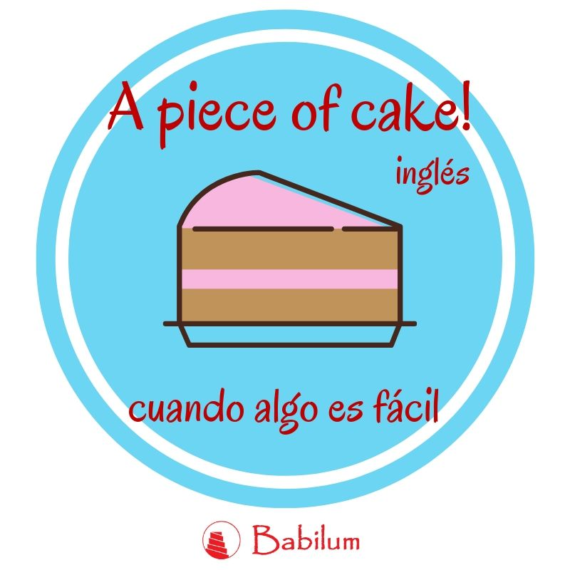 Una frase hecha inglesa: It's a piece of cake! 🍰 🎂 😍  #tarta #idiom #english #ingles