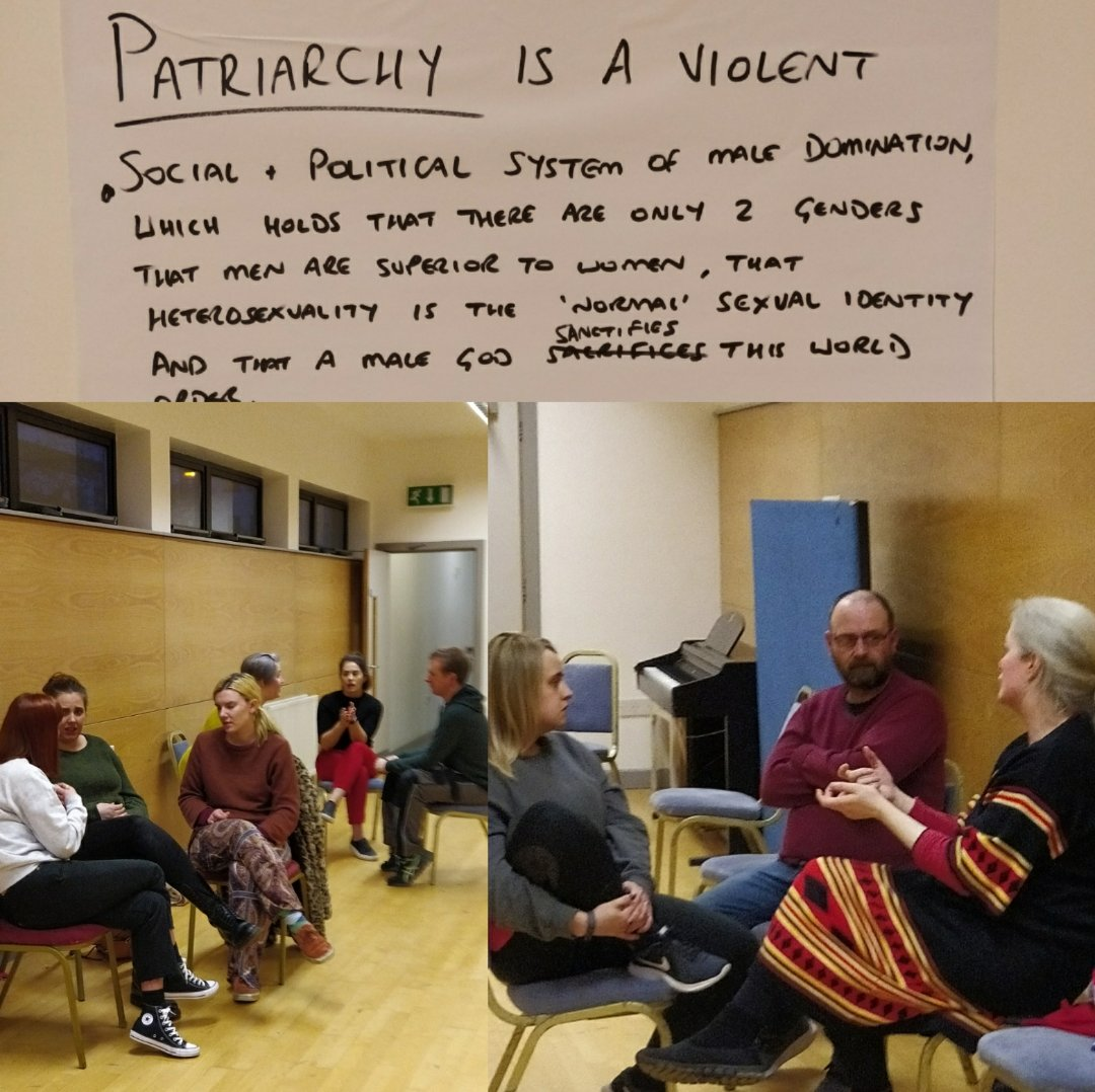 BRILLIANT first night at 'A Smashing (the Patriarchy) Drama Course' last night. Lots of discussion, openness, laughter and we can't wait for next week. ♥️ #SmashThePatriarchy #funnywomen #theatre @Foylewomensinfo @HolywellT