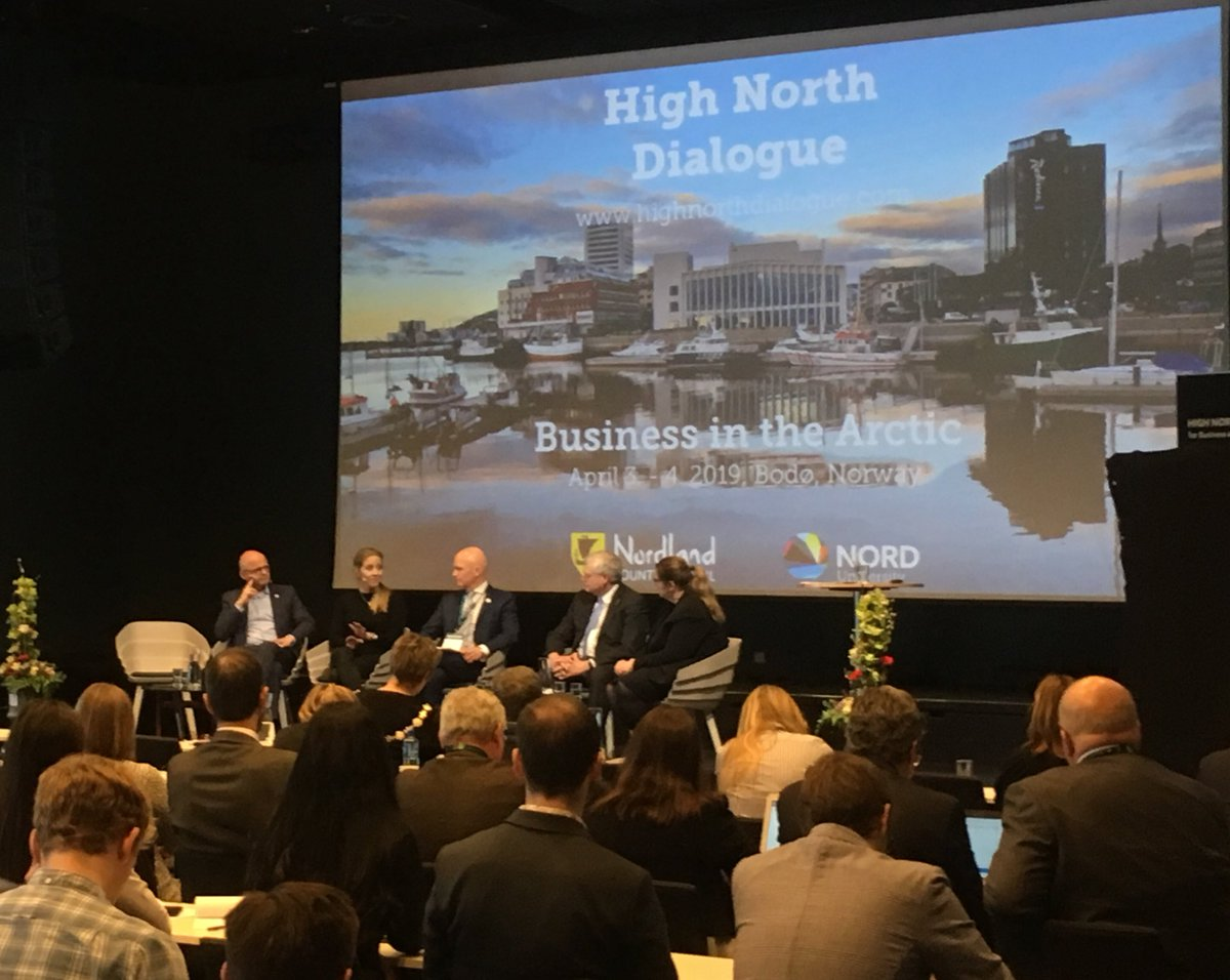 .@Tvaurast: #AEC has decided to establish a #BlueEconomy WG with support of #Faroese businesses where 95% of business comes from #oceans. Important focus area as #Arctic #BlueEconomy potential 2-3 times higher than elsewhere. @HNDialogue @MagniArge