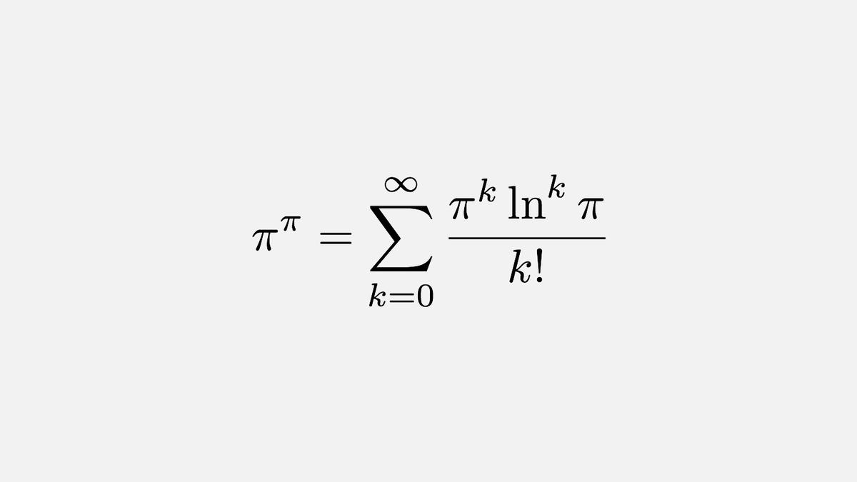 π to the power of π