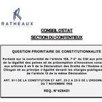 Image for the Tweet beginning: Note QPC sur la majoration