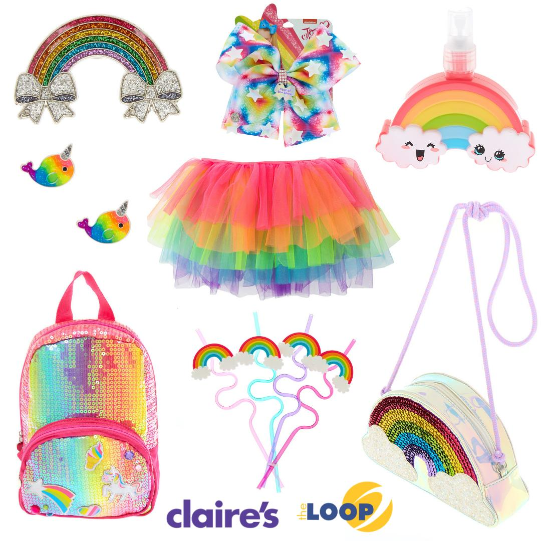 fab91205a It's National Find a Rainbow Day and @ClairesStore has all the cute rainbow  accessories to help celebrate! #nationalfindarainbowday #claires  #itsatclaires ...