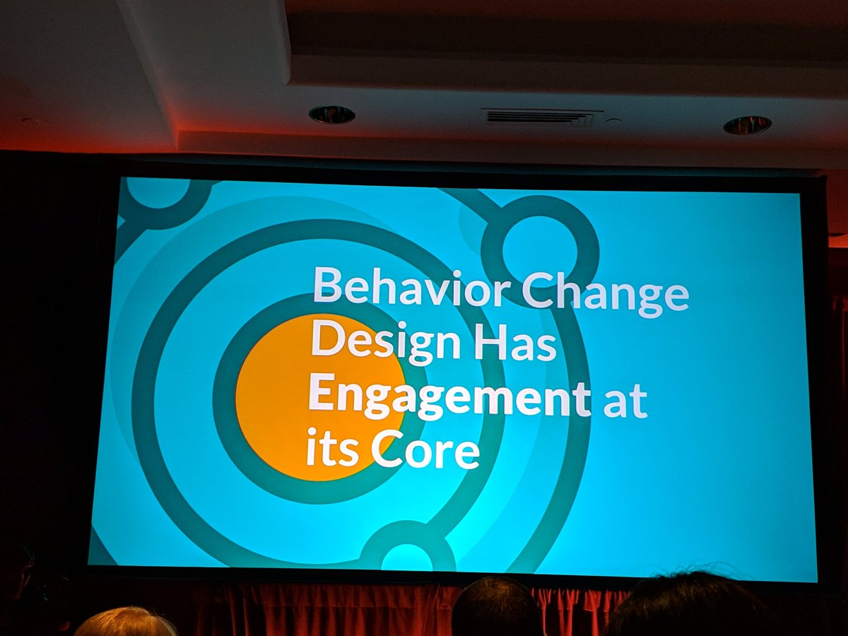 Behavior change starts with understanding the person. @amybphd #hxd2019
