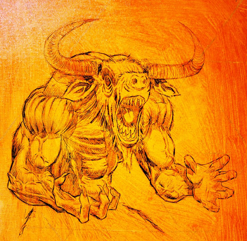 Rob Richardson Ar Twitter Minotaur Work In Progress