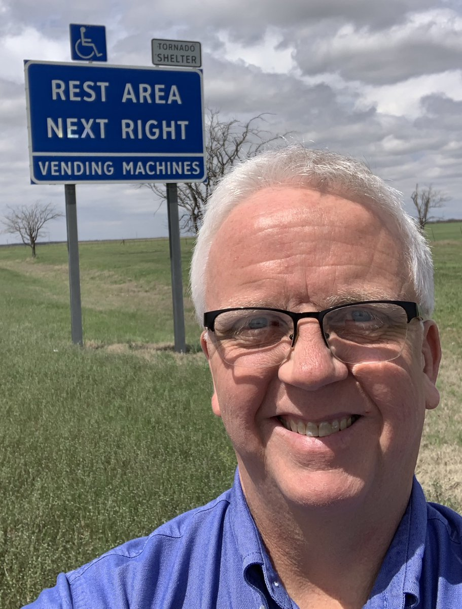 You may feel safe in your car, but it's a dangerous place to be in a tornado or severe thunderstorm. An overpass or bridge is not safe either, so get off the road and find a sturdy building. If you're lucky you might find one of these @TxDOT rest areas! #SafePlaceSelfie