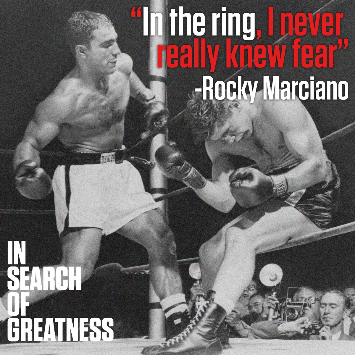 """He realized the limitations of his own physique and developed a whole new style of boxing that suited him."" -@SirKenRobinson on Rocky Marciano. Unearth the secrets of greatness. Available for pre-order in iTunes: https://apple.co/2Uqojbp"