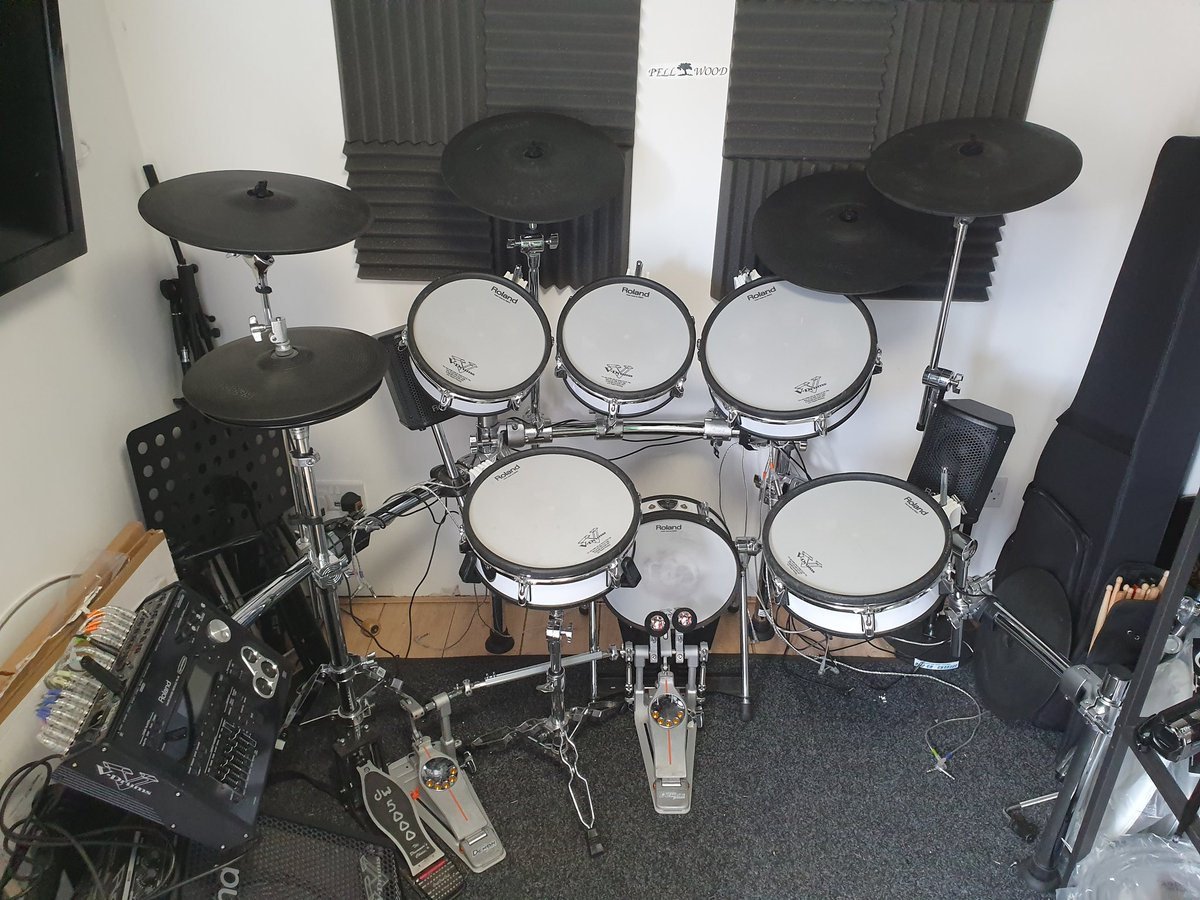 Another unexpected busy day  Recorded some midi drums for a