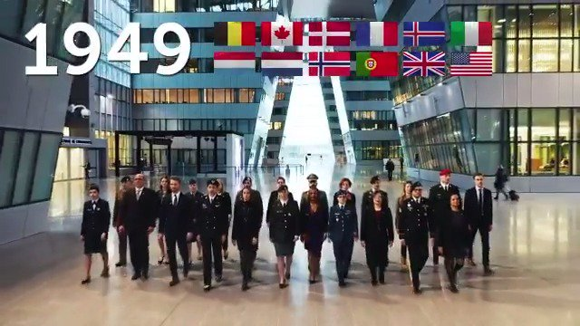 1⃣2⃣ nations founded @NATO on this day in 1949 – today we are 2⃣9⃣ allies.  #NATO works to prevent conflict and preserve peace for nearly one billion people.  Join us in celebrating the 7⃣0⃣th anniversary of our Alliance.