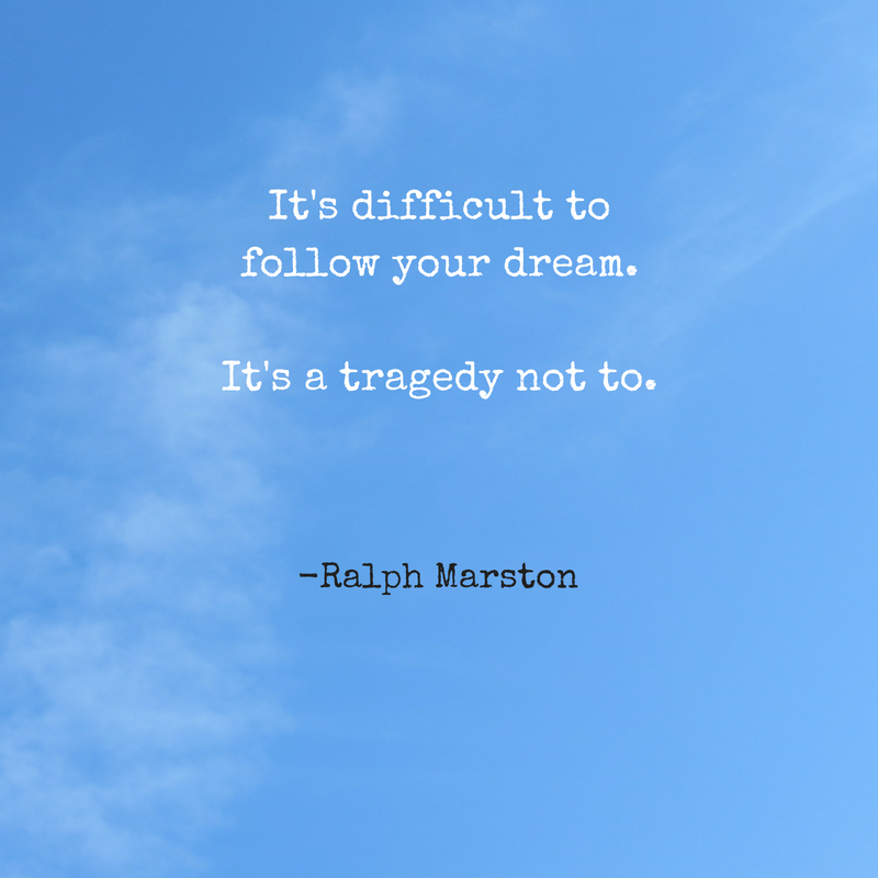 Don't be afraid to follow your dreams! #WednesdayWisdom from @voicesofyouth