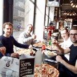 2e fase De Peperklip succesvol afgerond! Welverdiende lunch voor de kanjers die hier hun steentje aan hebben bijgedragen! #Rotterdam @MaasmondGroep