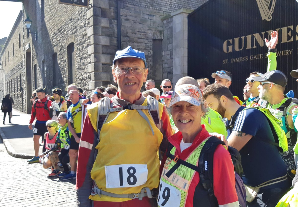 Congratulations to Sandra Brown of England who finished her world-best 200th 100-miler on Saturday at Dublin to Belfast 107-miler in 27:50. She also turned 70 on Monday. #ultrawalker #ultrarunner Read/Listen to her career story at: bit.ly/2HoxAyN