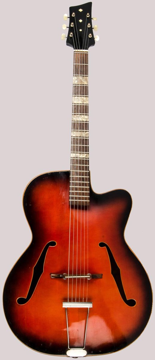 German archtop acoustic Guitar at Ukulele Corner