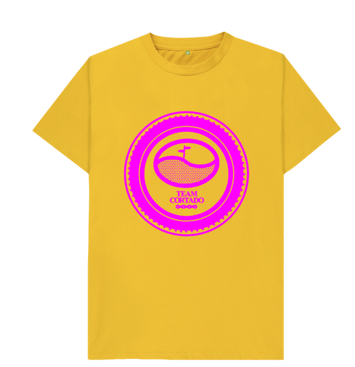 Team Cortado Tee - Yellow and bright pink