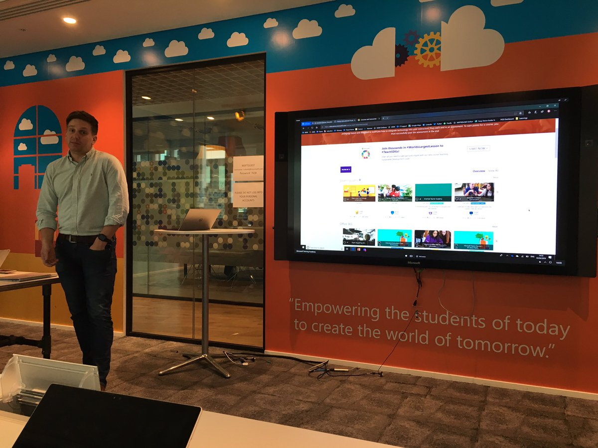Great session with @Callum_MSFT and colleagues at #MicrosoftEDU today exploring possibilities for the future of IT at the Trust. https://t.co/tUIYzULMya