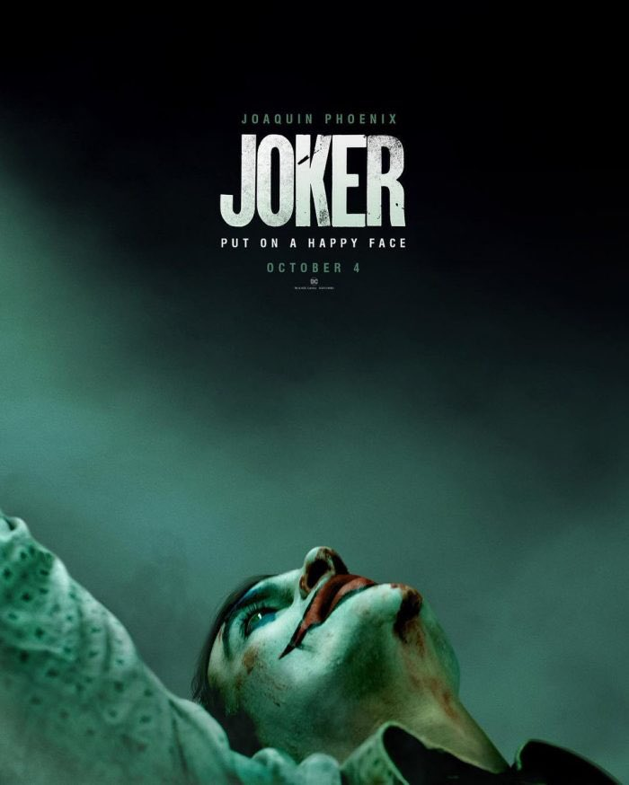 Joker movie poster and trailer, starring Joaquin Phoenix, on Paul Gale Network.