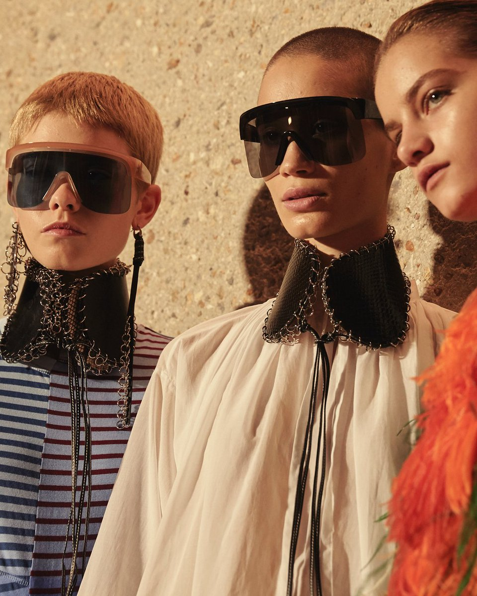 2c9408adec the show sunglasses as seen backstage at loewess19 now available on loewe